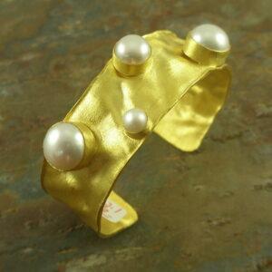 Cuff BraceletMeshed In Gold-0