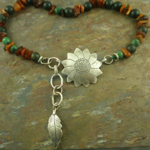 One Of A Kind NecklaceSanta Fe Flower Girl -0