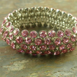 Fashion Stretch BraceletRock The Pink -0