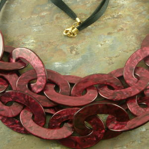 Resin Statement NecklaceWine Country -0