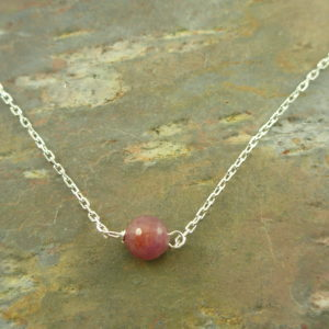 Ruby Sterling Silver NecklaceMy Precious -0