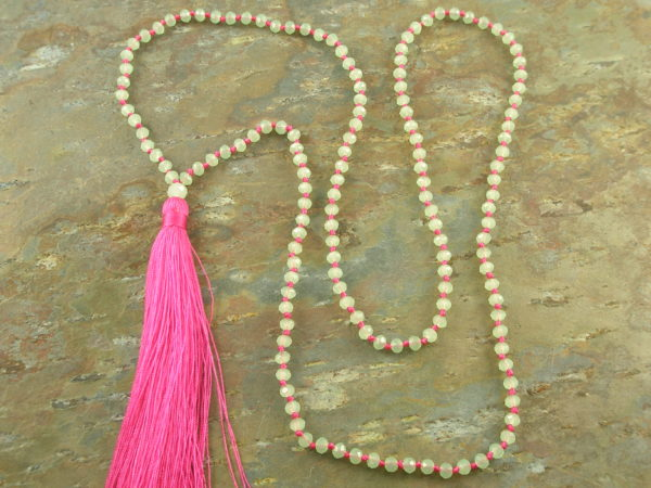Tassel Fashion Necklace #5Crystal -0