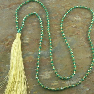 Tassel Fashion Necklace #6Green -0