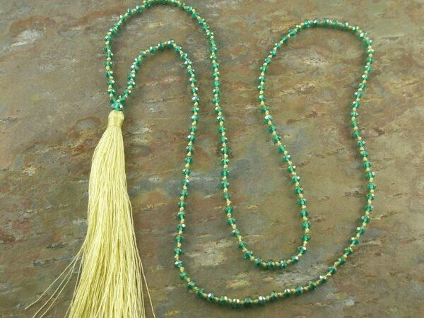 Tassel Fashion Necklace #6Green -0