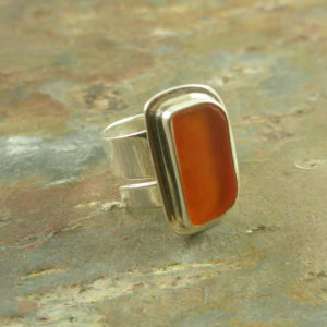 Sea Glass RingOrange Ya Loving This-0