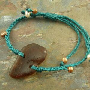 Sea Glass Woven BraceletBeach Baby -0