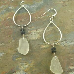 Sea Glass EarringsClear As A Bell -0