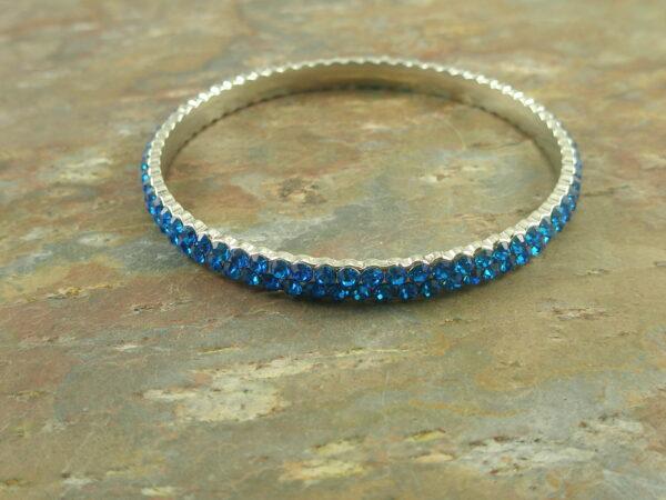 Crystal Bangle BraceletBlue Spark -0