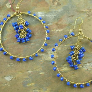 Beaded Hoop EarringsCenter Ring-0
