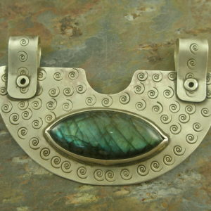 One Of A Kind Stone/Sterling PendantHieke-0