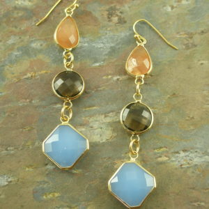 Semi-Precious Stone Dangle EarringsBlended Family-0