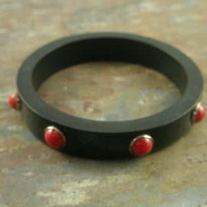 Resin And Coral Handcrafted Bangle BraceletCherry-0