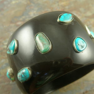 Chunky Statement Resin Bangle BraceletOut West-0