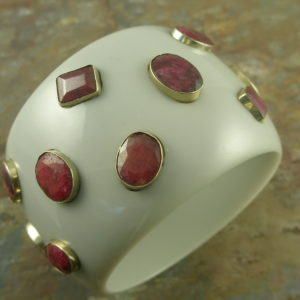 Resin Statement Bangle With RubyGet Back!-0