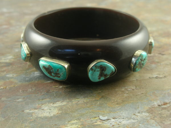 Chunky Resin And Turquoise Bangle BraceletSo SW-0