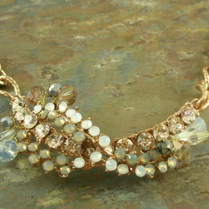 Vintage Style Crystal Necklace Handcrafted In ItalyRose May-0