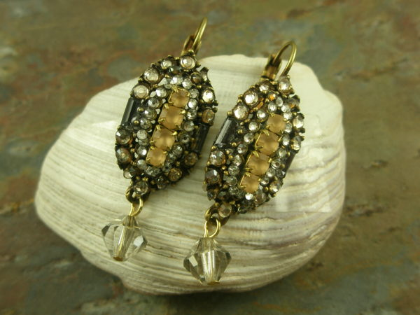 Vintage Style Handcrafted Crystal EarringsHarlow-0