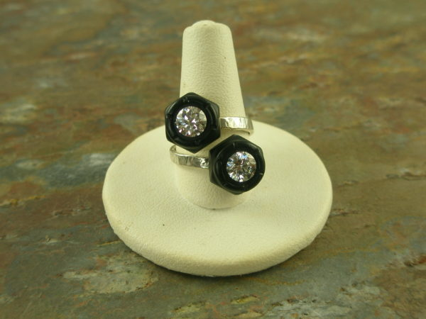 Adjustable Re-Cycled Crystal RingBolted In-0