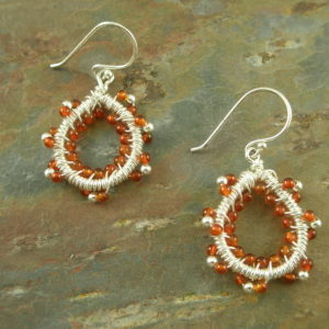 Wire Wrapped Beaded EarringsTwisted-0