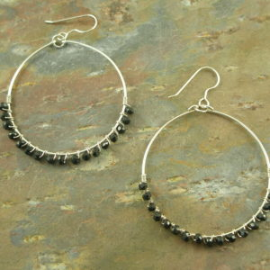 Sterling Silver And Spinel Hoop EarringsNightie Night-0