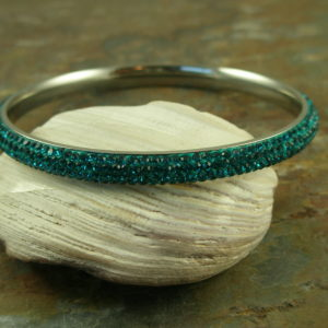 Swarovski Crystal Bangle BraceletAqua Sea-0