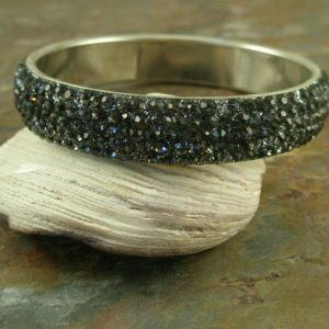 Wide Crystal Bangle BraceletTwilight-0