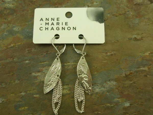 Handcrafted Eclectic Pewter Dangle EarringsChained-0