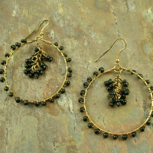 Unique Seed Bead Hoop EarringsWired Up-0