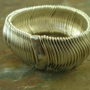 Silver Plated Stretch Statement BraceletIt Fits!-0
