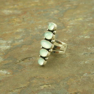 Handcrafted Contemporary Sterling Silver/Stone RingTake Five-0