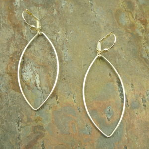 Sterling Silver Handcrafted Hoop EarringsTeardrop-0