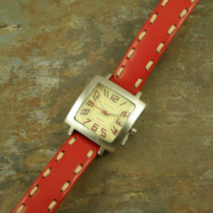Contemporary Leather WatchLittle Red-0