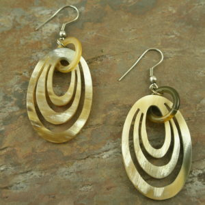 Handcrafted Cutout Horn Hoop EarringsPaper Cutouts-0