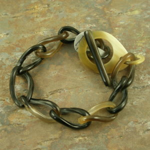 Handcrafted Natural Horn Link BraceletConnected-0