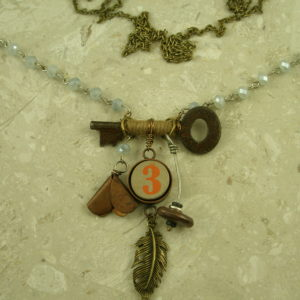 Re-Inspired Long Vintage Style Charm NecklaceVintage-0
