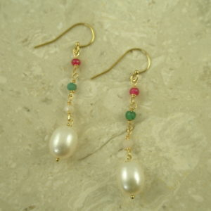 Pear Multi Dangle EarringSweet Mix-0
