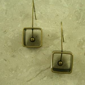 Brass Fashion Geometric EarringsBoxed In-0
