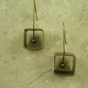 Brass Fashion Geometric EarringsBoxed In-0