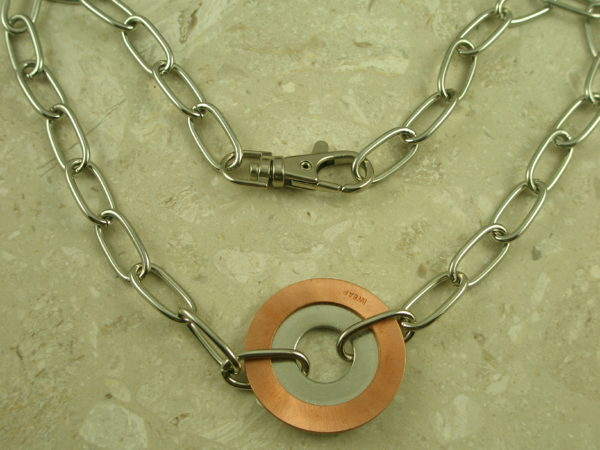 Chunky Chain Two Toned NecklaceDonut-0