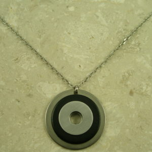 Re-Purposed Industrial Hardware NecklaceBullseye-0