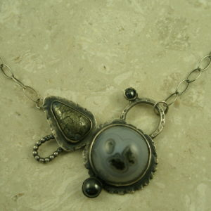 One Of A Kind Eclectic Sterling NecklaceIn Orbit-0
