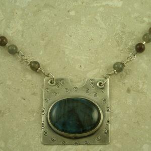 Labradorite Southwestern One Of A Kind NecklaceStunner-0