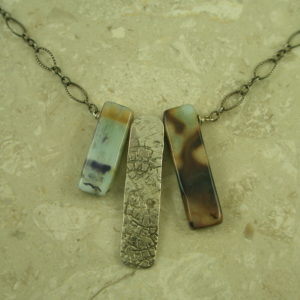 One Of A Kind Peruvian Opal Sterling NecklaceTwo Plus One-0