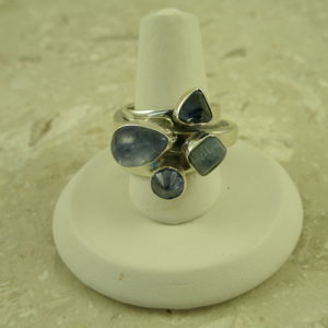 Lilly Barrack Multi Tanzanite RingFour Square-0