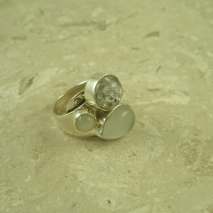 Lilly Barrack Moonstone Sterling RingFractured-0