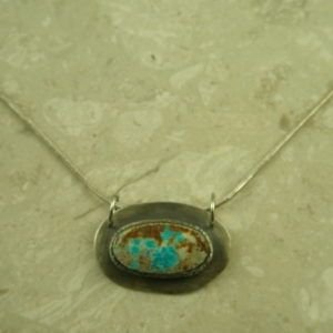 Signed Handcrafted Turquoise NecklaceLil' SW-0