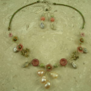 Handcrafted Czech Glass Flower NecklaceBloom-0