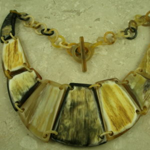 Natural Buffalo Horn Statement NecklaceYoked-0