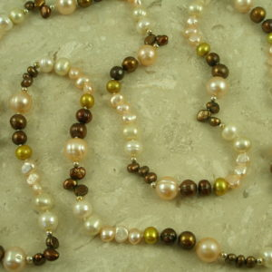 Mixed Fresh Water Pearl NecklaceAutumn-0