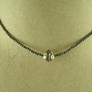 Faceted Spinel Stone Necklace/Raw Diamond PendantDiamond Spinner-0